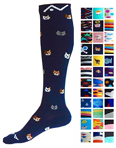 Compression Socks (1 pair) for Women & Men by A-Swift (Kitty, S/M) - Ultimate Sports Medicine Boot