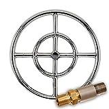 Cheap American Fireglass Round Stainless Steel Fire Pit Burner (SS-FR-12-LP), Propane, 12-Inch