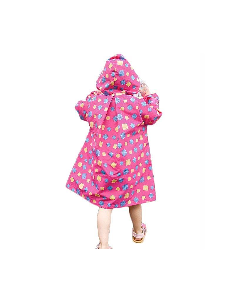 Boys Girls Zip Up Jacket Raincoat Hooded Outdoor Rainwear Feicuan Kids Raincoat