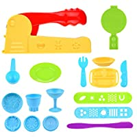 Kare & Kind® Set of 19pcs Smart Dough Tools Kit Ice Cream Set with Extruder Machine / Models and Molds (Food Silverware)