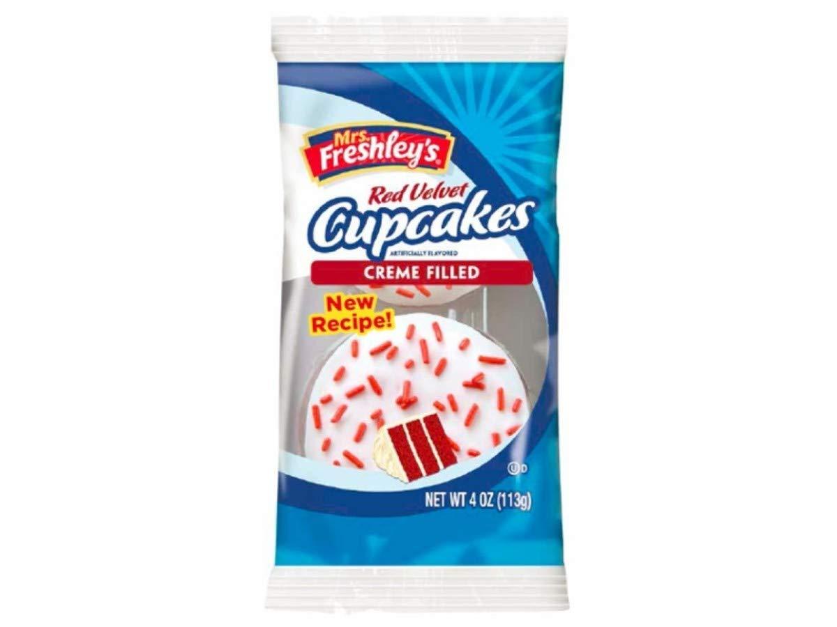 Mrs. Freshleys Red Velvet Cupcake, 4 Ounce -- 36 per case. by Mrs. Freshley's