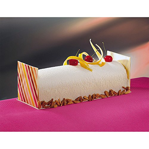 - Matfer Bourgeat PVC Small Half Circle Yule Log Cake Mold, 10PK (Pairs) Clear 362011