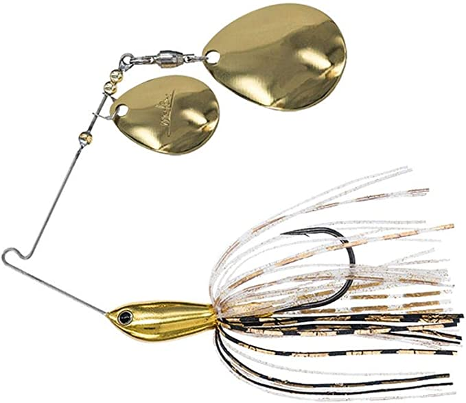 Spinnerbait Premium hand tied 1//2oz with Silver blades in baby crappie