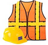 Tigerdoe Construction Costume - Construction Hat and Costume Vest - Dress up Accessories by (Construction Hat and Construction Vest)
