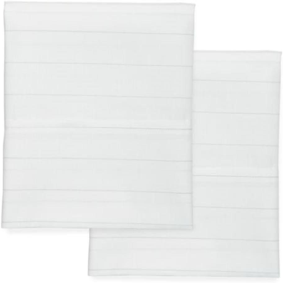 Modern. Southern. Home Cotton Oxford Pillowcase & Sheet Set (White Grey Striped, Regular King)