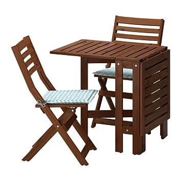 Amazon.com: IKEA mesa y 2 sillas plegables, al aire última ...