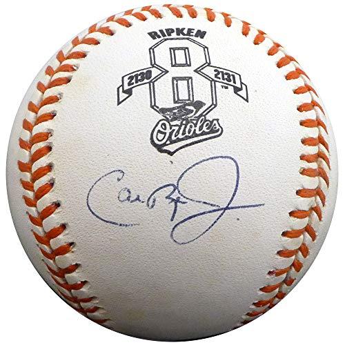 - Cal Ripken Jr. Autographed Official AL Baseball Baltimore Orioles Ripken 2131 Consecutive Game Logo Steiner Holo #050606