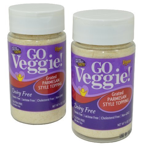 Go Veggie Vegan Parmesan Cheese (Pack of 2) (4 Ounces) by Go Veggie