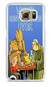Worst Conversation Ever White Hardshell Case for Samsung Galaxy S6