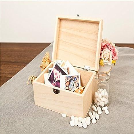 Leisial Caja de Almacenamiento de Dientes de Leche Souvenir Caja Guardar Madera Diente Organizador de la Caja para Ni/ños Ni/ñas Beb/é 1pc Espa/ñol