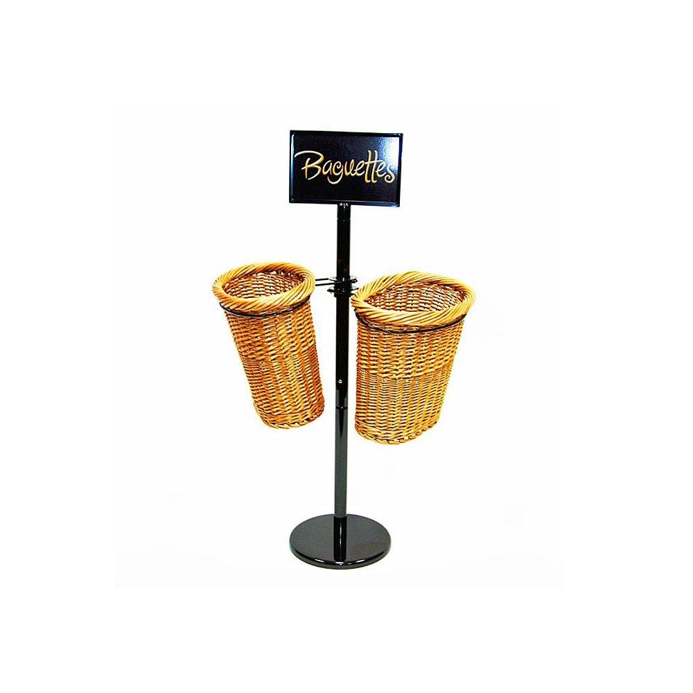 Mobile Merchandisers BS36/2 2-Basket Display Rack for Baguettes - Kit