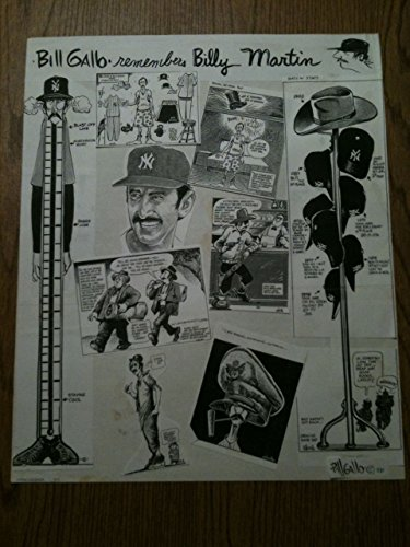 (Bill Gallo ORIGINAL Collage Plate Signed Billy Martin NY New York Yankees RARE)