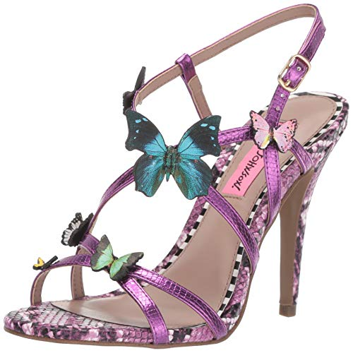 Betsey Johnson Women's VANDI Sandal, Fuchsia Multi, 7 M US ()