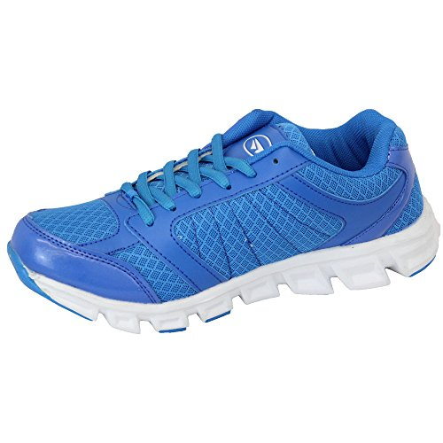 Ladies Trainers Womens Mercury Shoes Jogging Lace Up Running Gym Mesh Sports New BLUE - VORTEX JiiAFqK9g