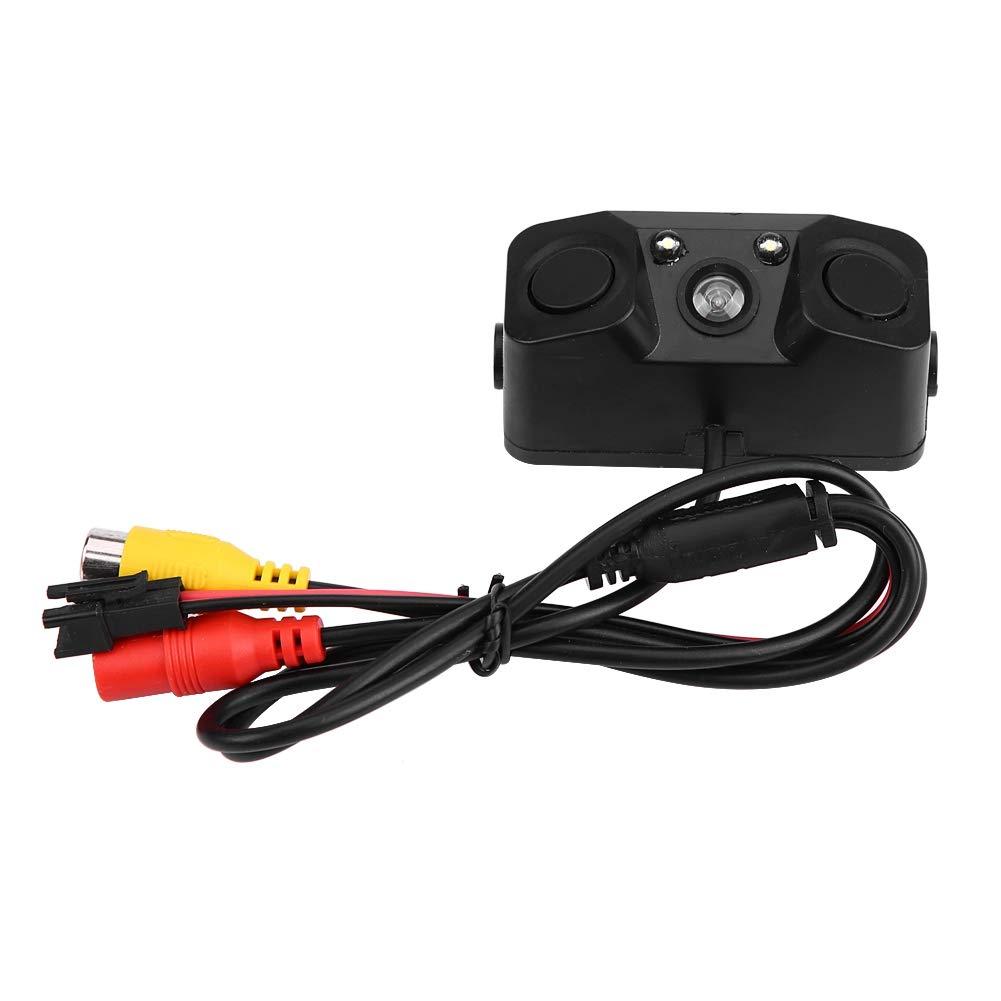 EBTOOLS C/ámara de visi/ón trasera 3 en 1 para coche con sensor de aparcamiento de respaldo de pl/ástico ABS 12 V negro