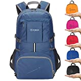 ZOMAKE Ultra Lightweight Hiking Backpack, 35L Foldable Water Resistant Travel Daypack Packable Backpack for Outdoor Camping(Jewelry Blue)