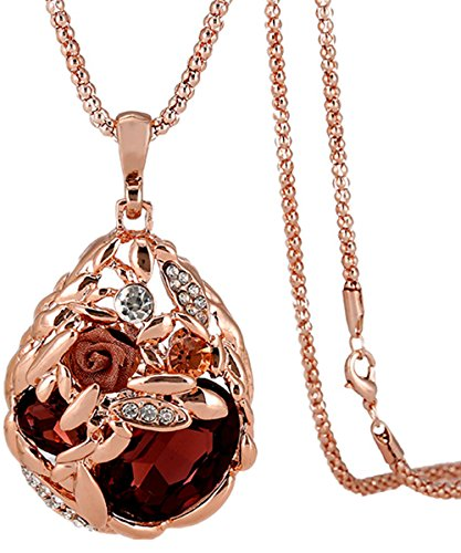 Calors Vitton Crystal Pendant Necklace product image