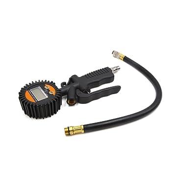 sourcing map Gatillo Pulverizador de Aire Inflador de Neumáticos de Coche con Manómetro LCD Electrónico Digital: Amazon.es: Coche y moto