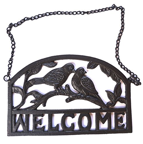 Lulu Decor, Cast Iron Plaque Welcome (Black) - Welcome Plaque