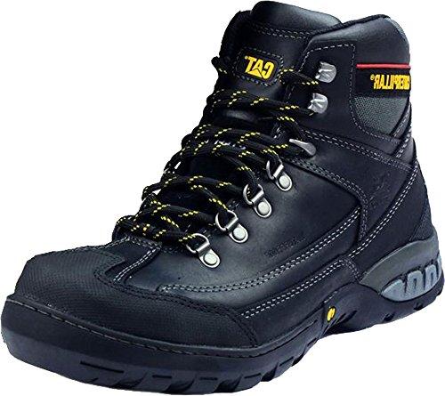 New Caterpillar con diseño de dinamita para hombre de encaje-up suela de goma patrones para patucos de reloj para hombre protectores de calcetines para de seguridad negro - negro