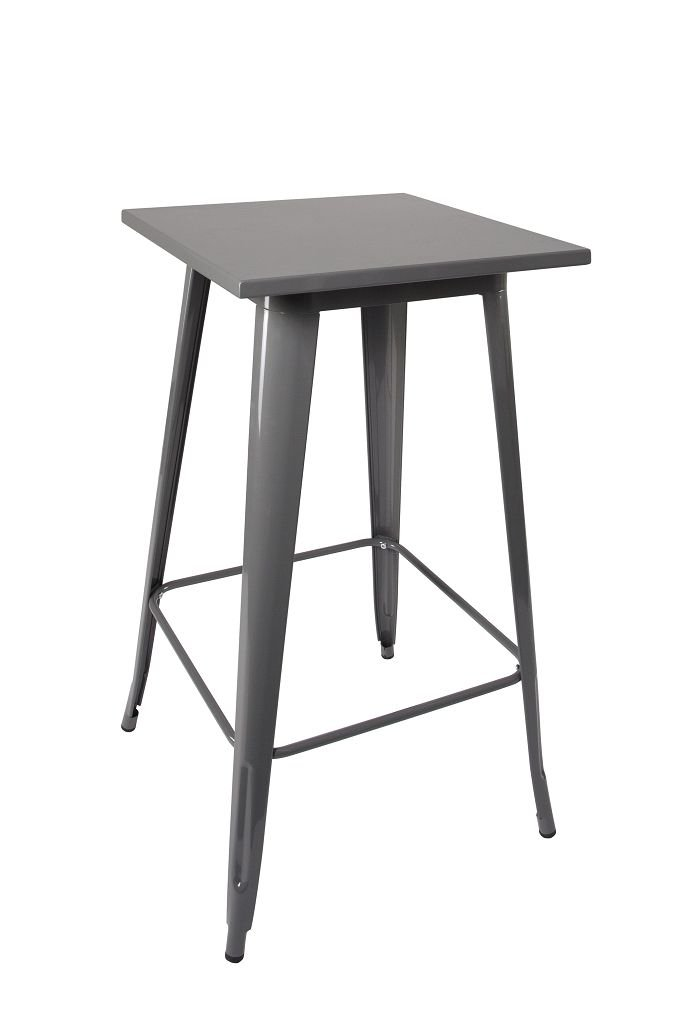 Bar table metal bistro tabel iron grey with rubber feet industrial design Duhome 0630 Duhome Elegant Lifestyle®