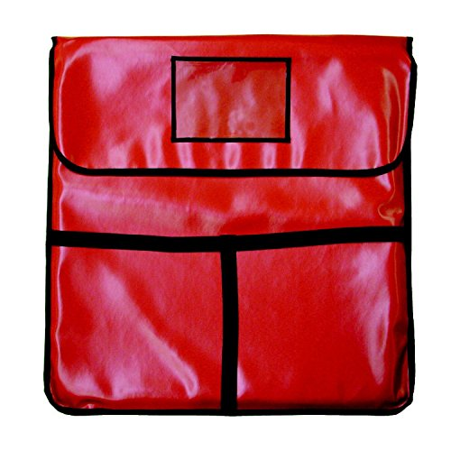 Chef World Thermal Pizza Delivery Bag 24 inchx24 inch, Holds 2 of 22 inch Pies Hot for Delivery