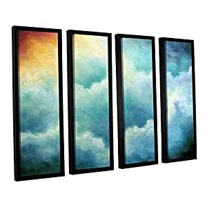 Art Wall 0pet017d3648f Marina Petro's Evidence of Angels 4 Piece Floater Framed Canvas Set, 36x48-Inch