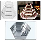 6 square cake pan - 4 Tier Hexagon Multilayer Birthday Wedding Anniversary Cake Tins / Pans 6