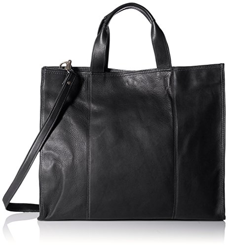 Piel Leather Carry-All Tote, Black, One Size by Piel Leather
