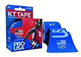 KT Tape PRO Synthetic Kinesiology Sports Tape, Water Resistant and Breathable, 20 Precut 10 Inch Strips, Team USA Olympic Edition, Blue
