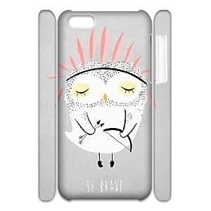 3D Doah Art Prints IPhone 5C Cases be BR**E Hardshell for Girls, Iphone 5c Case for Boys Hardshell for Girls [White]