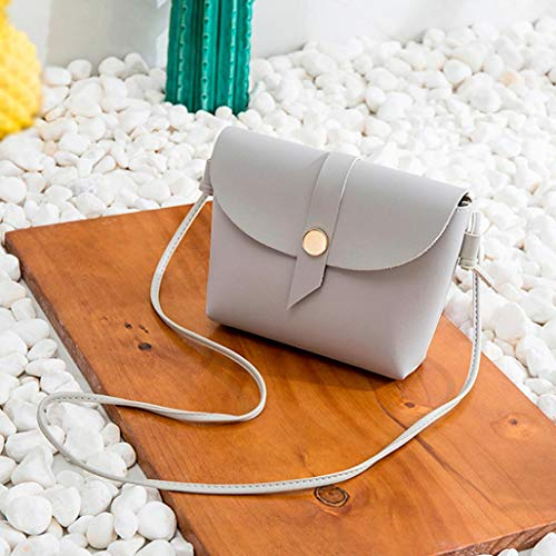Bag Bucket Bag Zipper Women Messenger NXDA for Tote Fashion Purse Girls Gray Gray Shoulder Crossbody Handbags PU and tqCdwtx8X