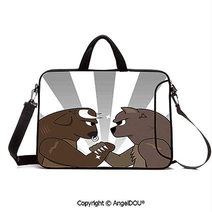 a8178b925325 Amazon.com: AngelDOU Neoprene Printed Fashion Laptop Bag Bull Bear ...