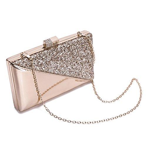 Evening Bags Dance Handbag Wedding Party Champagne Bride Evening Purse Sparkling Bling Prom Elegant Glitter Clutch For Xw4x8vqI