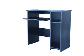 En bois noir effet robuste pour ordinateur portable pc bureau d