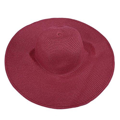 HDE Women's Floppy Packable Wide Brim Sun Shade Derby Beach Straw Hat - Yoko Ono Costume