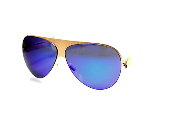 Amazon.com: anteojos de sol Mykita Franz Oro Aviator: Mykita ...