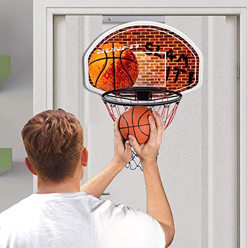 "Goplus 29"" x 20"" Mini Basketball Hoop Wall Mounted Portable Basketball Backboard Indoor Outdoor Sports Suitable for Adults and Kids Play"