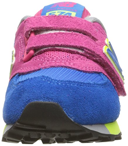 New Balance Unisex-Kinder Kv574wai M Hook and Loop Sneakers Mehrfarbig (Pink/blue)