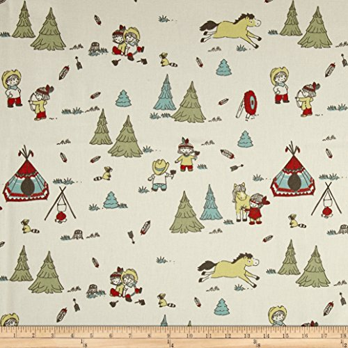 [Premier Prints Cowboy and Friends Formica Fabric By The Yard] (Cowboy Print Fabric)
