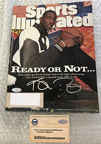 ORIGINAL 1995 SPORTS ILLUSTRATED AUTOGRAPHED BY KEVIN GARNETT STEINER COA (Sports Auto Illustrated)