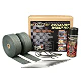DEI 010110 Exhaust/Header Wrap Kit with Hi-Temp Silicone Coating Spray - Black Wrap/Black Spray