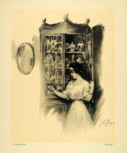 1911 Print Old China Dalton Stevens Cupboard Cabinet Furniture Portrait Art - Original Halftone Print (Furniture Steven)