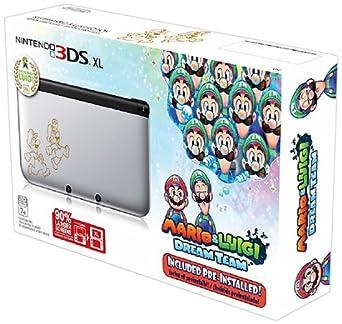 Amazon Com Nintendo 3ds Xl Silver Mario Luigi Dream Team