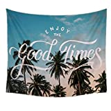 Dremisland Indian Wall Decor Hippie Tapestries Bohemian Mandala Tapestry Wall Hanging Throw (Coconut Tree, M-51.2ʺ × 59.1ʺ)