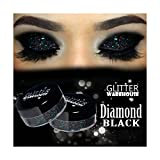 GlitterWarehouse Glitter Eyeshadow / Eye Shadow Shimmer Makeup Powder Diamond Black