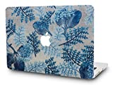 KEC MacBook Pro 13 Case 2017 & 2016 Plastic Hard Shell Cover A1706 / A1708 with/without Touch Bar (Leaf - Winter)