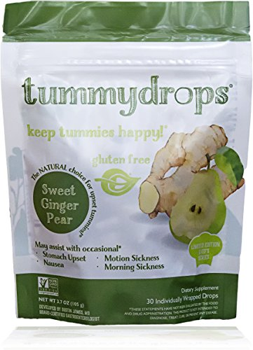 Non-GMO Verified Sweet Ginger Pear Tummydrops, 30 count resealable (Sweet Pears)