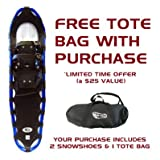 34 Inch XL Bigfoot Snowshoes with Tote Bag - Blue