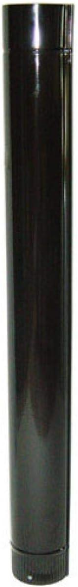 Wolfpack Tubo de Estufa Acero Vitrificado Negro Ø 120 mm, Ideal Estufas de Leña, Chimenea, Alta resistencia, Color Negro Ø